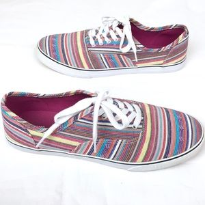 Canvas Striped Classic Lace-up Sneaker